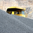 Stock Photo: Truck in open pit