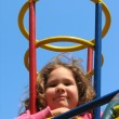 Girl in the playground — Stockfoto