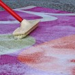 Stock Photo: Carpet cleaning