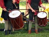 Drumers sobre el caballero torurnament — Foto de Stock