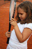 Tenis kızı — Stok fotoğraf