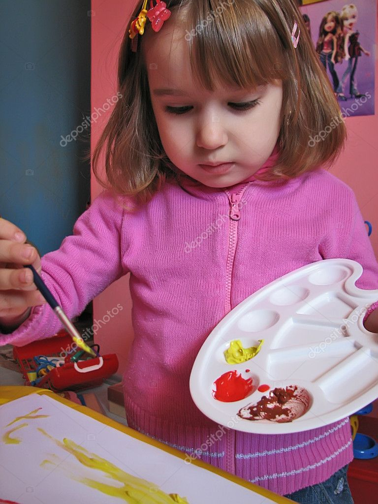 Girl painting  Stock Photo #9755009