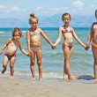Children on the beach — Stock Photo