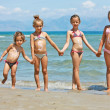 Stock Photo: Children on the beach