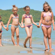 Stock Photo: Little girls on the sea
