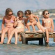 Little girls on the sea — Stock Photo