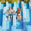 Stock Photo: Mand womin water park