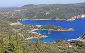 Paleokastritsa gulf on Corfu island, Greece — Stock Photo