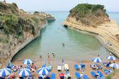 Sidari beach in Corfu - Greece — Stock Photo