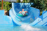Man in the water park — Stock Photo