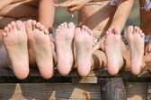 Children legs — Stock Photo