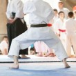 Karate man — Stock Photo