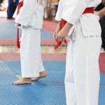 Karate kids — Stock Photo