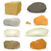 Roches et pierres ensemble — Vecteur