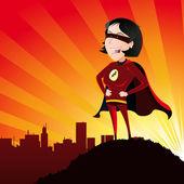 Super Hero - Female — Stock Vector