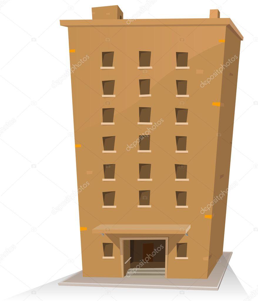 Edificio de dibujos animados — Vector de stock #8320171 ...