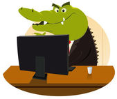 Crocodile Bankster — Stock Vector