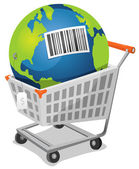 Terre à vendre avec code à barres — Vecteur