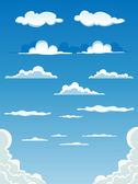 Cartoon Clouds Set — Stock Vector