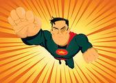 Comic Superhero - Fast And Furious — Stock Vector