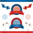 Elections In USA - Ribbons And Banners — Stock Vector #8828292