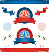 Elections In USA - Ribbons And Banners — Vector de stock
