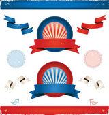 Elezioni in usa - nastri e bandiere — Vettoriale Stock