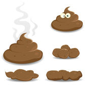 Dung, Pooh And Other Shit Collection — Stock Vector