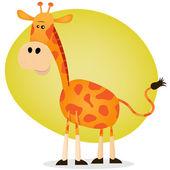 Söta tecknade giraff — Stockvektor