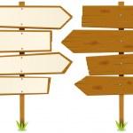 Arrows Wooden Sign — Stock Vector #9129176