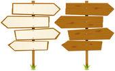 Arrows Wooden Sign — Stock Vector