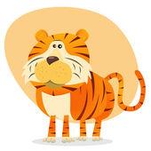 Cartoon Tiger — Stock Vector