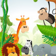 Royalty-Free Stock Vector Image: Wild Animals Background