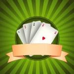 Casino Poker Aces Banner — Stock Vector #9654940
