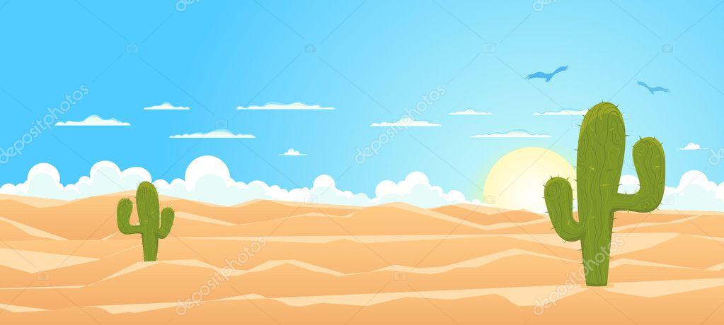 dibujos animados amplia del desierto — Vector stock © benchyb #9766175