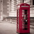 Red telephone near Big Ben — Stock Photo #8691795