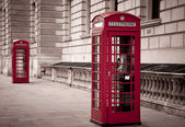 Red telephone near Big Ben — ストック写真