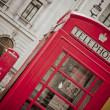 Stock Photo: Red phone booth in London