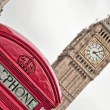 Red telephone near Big Ben — Stock Photo