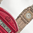 Stock Photo: Red telephone near Big Ben