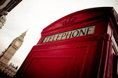 Red phone booth — Stock Photo