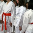 Karate tournament — Stock Photo