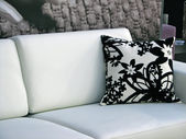 Black and white design sofa — Stock Photo