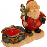 Santa candle — Stock Photo