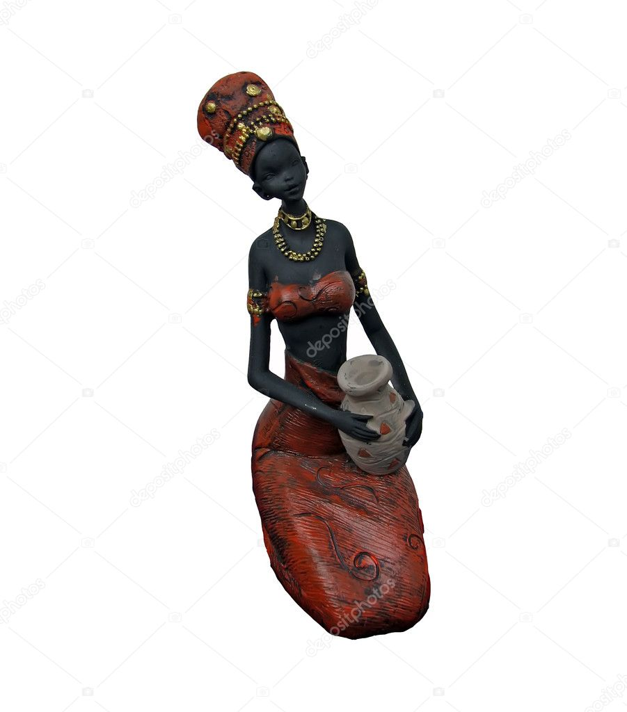 African girl statue.African girl figure. — Stock Photo #8517066