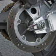 Motorcycle wheel — Foto de stock #8673751
