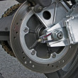 Foto Stock: Motorcycle wheel