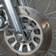 Motorcycle wheel — 图库照片