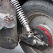Motorcycle wheel — Stock Photo #8673974