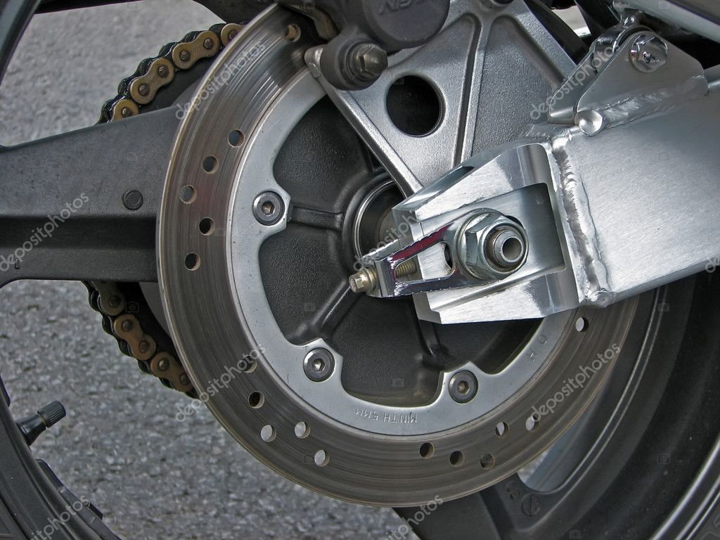 Motorcycle wheel.Motorcycle brakes on the wheel. — Stock Photo #8673751